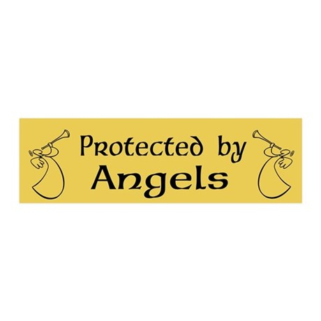 Protected by Angels 20x6 Wall Decal