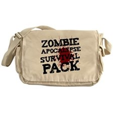 Zombie Apocalypse Survival Pack Messenger Bag