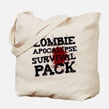 Zombie Apocalypse Survival Pack Tote Bag