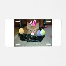 Easter Orange Tabby Kitty Cat Aluminum License Pla