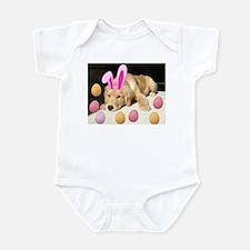 Happy Easter Golden Retriever Puppy Infant Bodysui