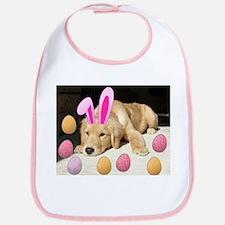 Happy Easter Golden Retriever Puppy Bib