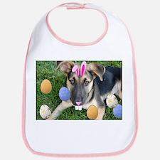 Happy Easter German Shepherd Puppy Bib