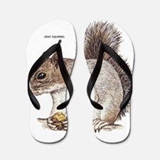 Gray Squirrel Animal Flip Flops
