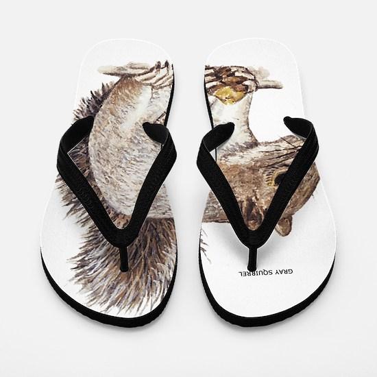 Gray Squirrel Animal Flip Flops