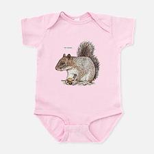Gray Squirrel Animal Infant Bodysuit