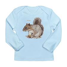 Gray Squirrel Animal Long Sleeve Infant T-Shirt