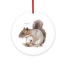 Gray Squirrel Animal Ornament (Round)