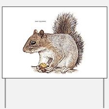 Gray Squirrel Animal Yard Sign