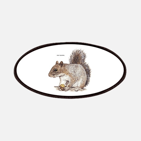 Gray Squirrel Animal Patches