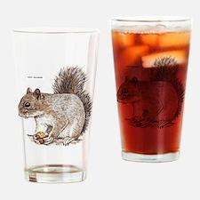 Gray Squirrel Animal Drinking Glass