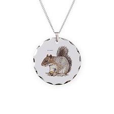 Gray Squirrel Animal Necklace