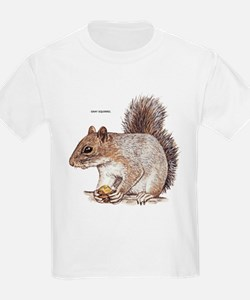 Gray Squirrel Animal T-Shirt