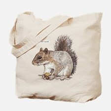 Gray Squirrel Animal Tote Bag