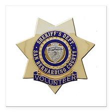 "San Bernardino Volunteer Square Car Magnet 3"" x 3"""