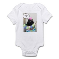 Happy Easter Black Cat Infant Bodysuit