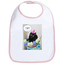 Happy Easter Black Cat Bib