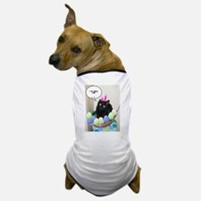 Happy Easter Black Cat Dog T-Shirt