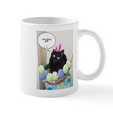 Happy Easter Black Cat Mug
