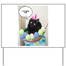 Happy Easter Black Cat Yard Sign
