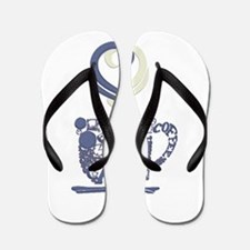 Coffee Cup Art Flip Flops