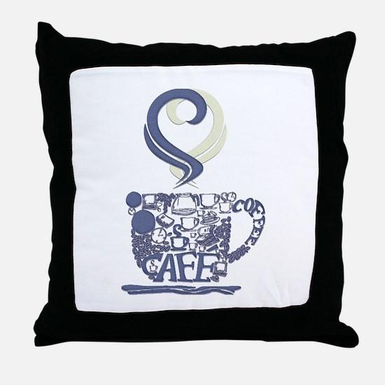 Coffee Cup Art Throw Pillow