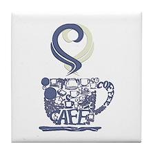 Coffee Cup Art Tile Coaster