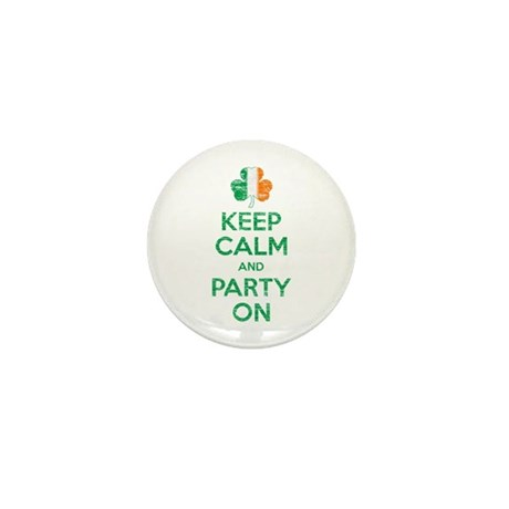 Keep Calm And Party On Irish Flag Shamrock Mini Bu