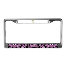 Yellow kitty License Plate Frame