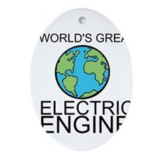 Worlds Greatest Electrical Engineer Ornament (Oval
