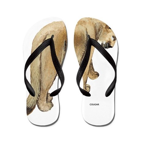 Cougar Cat Animal Flip Flops