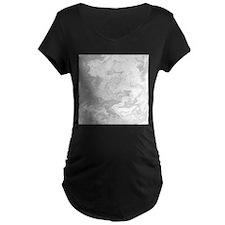 Gray Swirly Pattern. Maternity T-Shirt