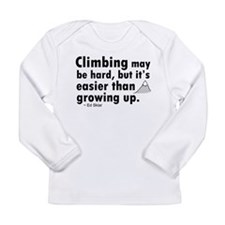 'Climbing Quote' Long Sleeve Infant T-Shirt