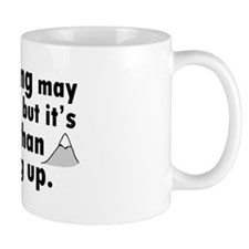 'Climbing Quote' Mug
