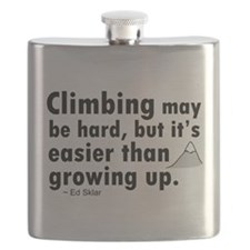 'Climbing Quote' Flask