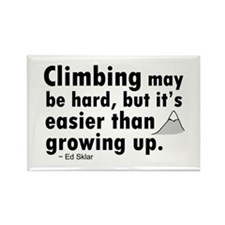 'Climbing Quote' Rectangle Magnet