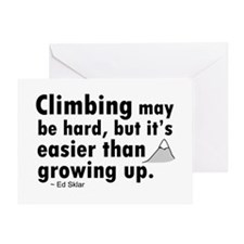 'Climbing Quote' Greeting Card