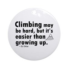 'Climbing Quote' Ornament (Round)