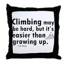 'Climbing Quote' Throw Pillow