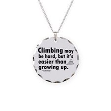 'Climbing Quote' Necklace