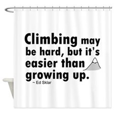 'Climbing Quote' Shower Curtain