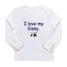 I love my Sissy -panda Long Sleeve T-Shirt