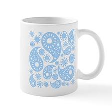 Pale Blue Paisley. Mug