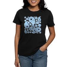 Pale Blue Paisley. T-Shirt