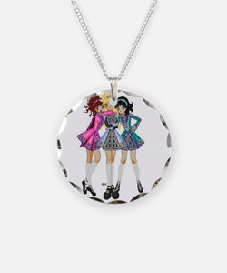 Irish Dance Necklace Circle Charm