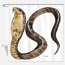 Cobra Snake Shower Curtain
