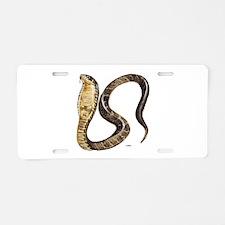 Cobra Snake Aluminum License Plate