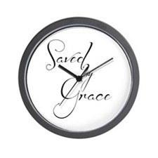 Saved by grace Wall Clock