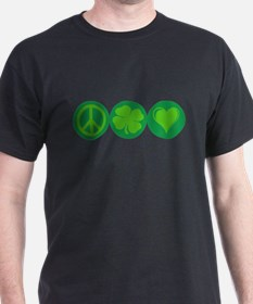 Peace, Clover, and Love T-Shirt