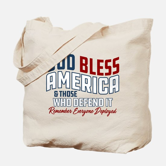 Army God Bless America Tote Bag